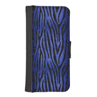 SKIN4 BLACK MARBLE & BLUE BRUSHED METAL iPhone SE/5/5s WALLET CASE