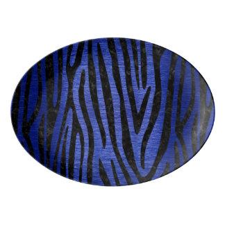 SKIN4 BLACK MARBLE & BLUE BRUSHED METAL PORCELAIN SERVING PLATTER