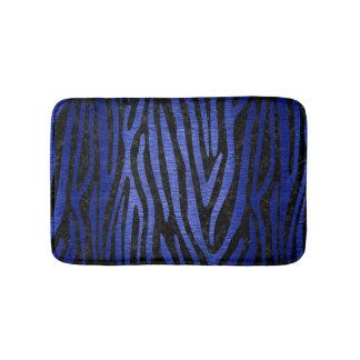 SKIN4 BLACK MARBLE & BLUE BRUSHED METAL (R) BATH MAT
