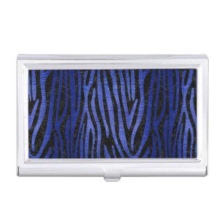 SKIN4 BLACK MARBLE & BLUE BRUSHED METAL (R) BUSINESS CARD HOLDER