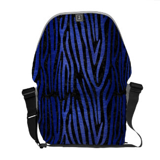 SKIN4 BLACK MARBLE & BLUE BRUSHED METAL (R) COURIER BAG