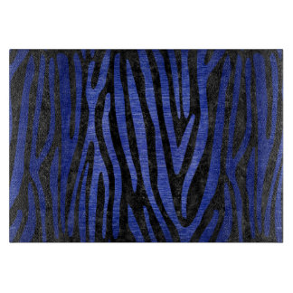 SKIN4 BLACK MARBLE & BLUE BRUSHED METAL (R) CUTTING BOARD