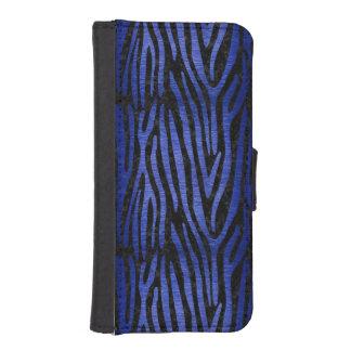 SKIN4 BLACK MARBLE & BLUE BRUSHED METAL (R) iPhone SE/5/5s WALLET CASE