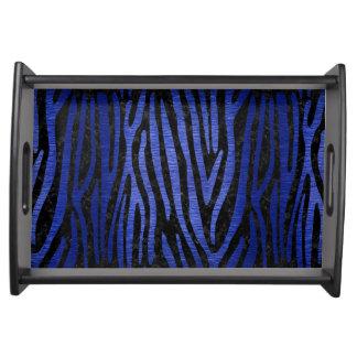 SKIN4 BLACK MARBLE & BLUE BRUSHED METAL (R) SERVING TRAY