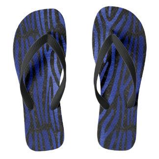 SKIN4 BLACK MARBLE & BLUE BRUSHED METAL (R) THONGS
