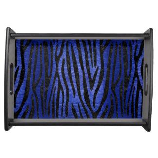 SKIN4 BLACK MARBLE & BLUE BRUSHED METAL SERVING TRAY