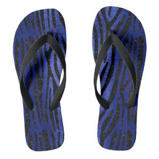 SKIN4 BLACK MARBLE & BLUE BRUSHED METAL THONGS