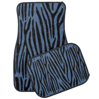 SKIN4 BLACK MARBLE & BLUE DENIM CAR MAT