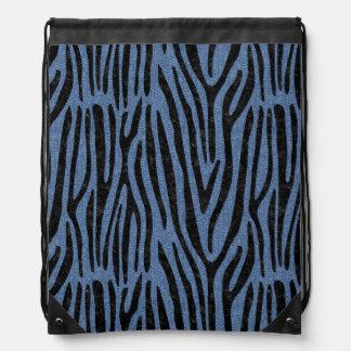 SKIN4 BLACK MARBLE & BLUE DENIM DRAWSTRING BAG
