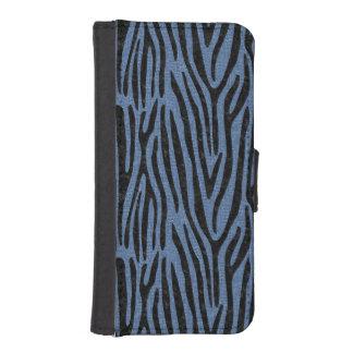 SKIN4 BLACK MARBLE & BLUE DENIM iPhone SE/5/5s WALLET CASE