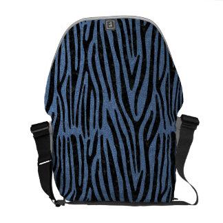 SKIN4 BLACK MARBLE & BLUE DENIM MESSENGER BAG