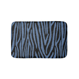 SKIN4 BLACK MARBLE & BLUE DENIM (R) BATH MAT