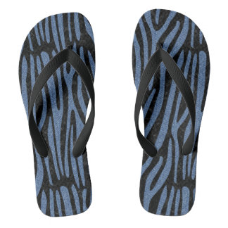 SKIN4 BLACK MARBLE & BLUE DENIM (R) THONGS