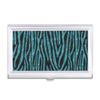 SKIN4 BLACK MARBLE & BLUE-GREEN WATER (R) BUSINESS CARD HOLDER