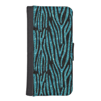 SKIN4 BLACK MARBLE & BLUE-GREEN WATER (R) iPhone SE/5/5s WALLET CASE