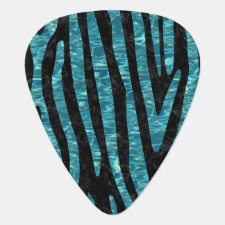 SKIN4 BLACK MARBLE & BLUE-GREEN WATER (R) PLECTRUM