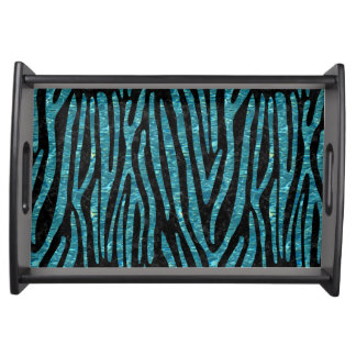 SKIN4 BLACK MARBLE & BLUE-GREEN WATER (R) SERVING TRAY