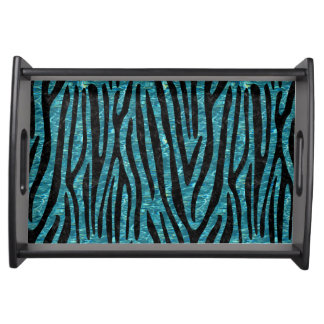 SKIN4 BLACK MARBLE & BLUE-GREEN WATER SERVING TRAY