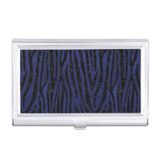 SKIN4 BLACK MARBLE & BLUE LEATHER BUSINESS CARD HOLDER