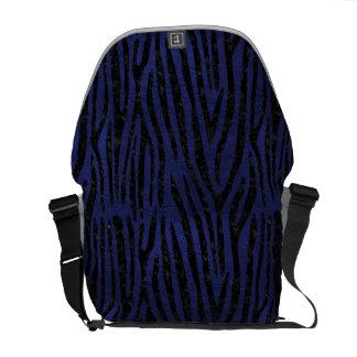 SKIN4 BLACK MARBLE & BLUE LEATHER COURIER BAG