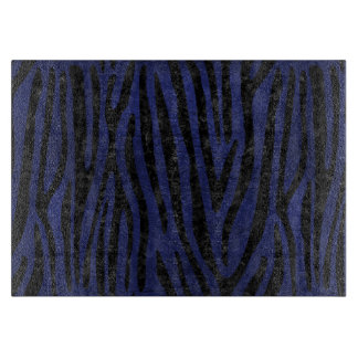 SKIN4 BLACK MARBLE & BLUE LEATHER CUTTING BOARD