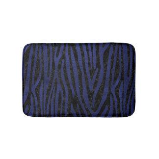 SKIN4 BLACK MARBLE & BLUE LEATHER (R) BATH MAT