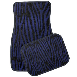 SKIN4 BLACK MARBLE & BLUE LEATHER (R) CAR MAT