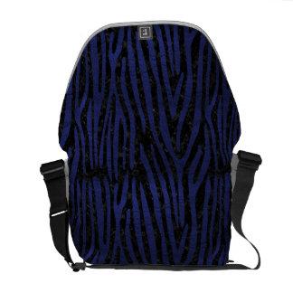 SKIN4 BLACK MARBLE & BLUE LEATHER (R) MESSENGER BAG