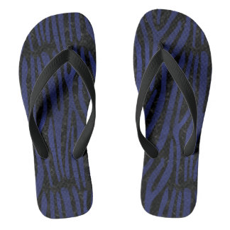 SKIN4 BLACK MARBLE & BLUE LEATHER (R) THONGS
