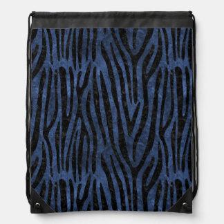 SKIN4 BLACK MARBLE & BLUE STONE DRAWSTRING BAG