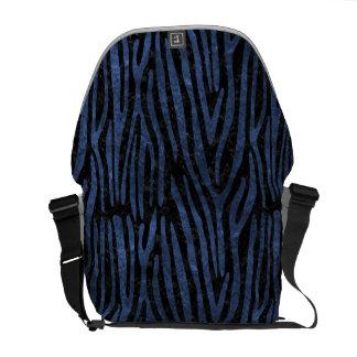 SKIN4 BLACK MARBLE & BLUE STONE (R) COURIER BAG