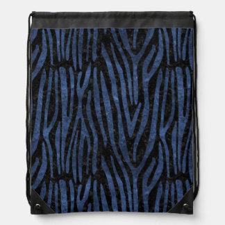 SKIN4 BLACK MARBLE & BLUE STONE (R) DRAWSTRING BAG