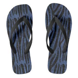 SKIN4 BLACK MARBLE & BLUE STONE THONGS