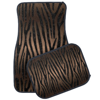 SKIN4 BLACK MARBLE & BRONZE METAL CAR MAT