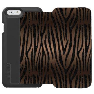 SKIN4 BLACK MARBLE & BRONZE METAL INCIPIO WATSON™ iPhone 6 WALLET CASE