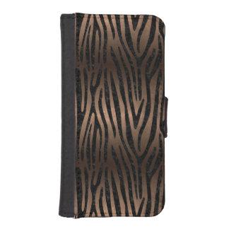 SKIN4 BLACK MARBLE & BRONZE METAL iPhone SE/5/5s WALLET CASE