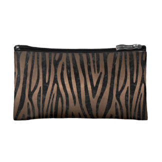 SKIN4 BLACK MARBLE & BRONZE METAL MAKEUP BAG