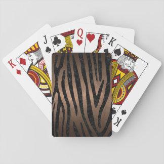 SKIN4 BLACK MARBLE & BRONZE METAL PLAYING CARDS