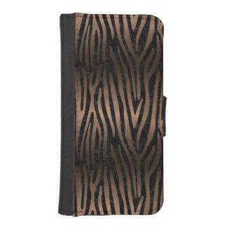 SKIN4 BLACK MARBLE & BRONZE METAL (R) iPhone SE/5/5s WALLET CASE