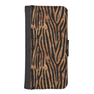 SKIN4 BLACK MARBLE & BROWN STONE iPhone SE/5/5s WALLET CASE