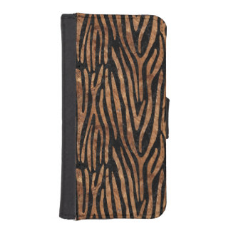 SKIN4 BLACK MARBLE & BROWN STONE (R) iPhone SE/5/5s WALLET CASE