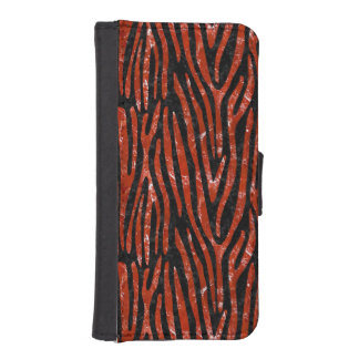 SKIN4 BLACK MARBLE & RED MARBLE (R) iPhone SE/5/5s WALLET CASE
