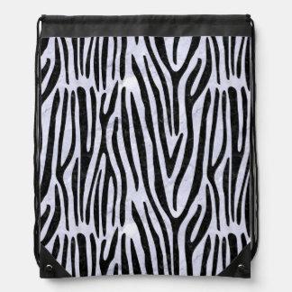 SKIN4 BLACK MARBLE & WHITE MARBLE DRAWSTRING BAG