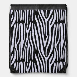 SKIN4 BLACK MARBLE & WHITE MARBLE (R) DRAWSTRING BAG