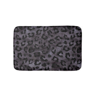 SKIN5 BLACK MARBLE & BLACK WATERCOLOR BATH MAT