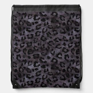 SKIN5 BLACK MARBLE & BLACK WATERCOLOR DRAWSTRING BAG