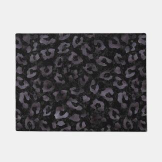 SKIN5 BLACK MARBLE & BLACK WATERCOLOR (R) DOORMAT