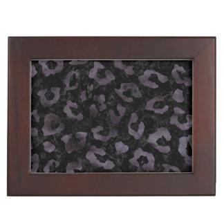 SKIN5 BLACK MARBLE & BLACK WATERCOLOR (R) KEEPSAKE BOX