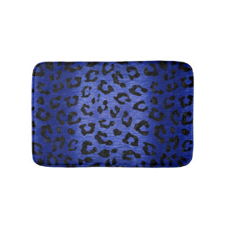 SKIN5 BLACK MARBLE & BLUE BRUSHED METAL BATH MAT