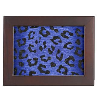 SKIN5 BLACK MARBLE & BLUE BRUSHED METAL KEEPSAKE BOX